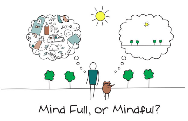 mindful or mind-full?